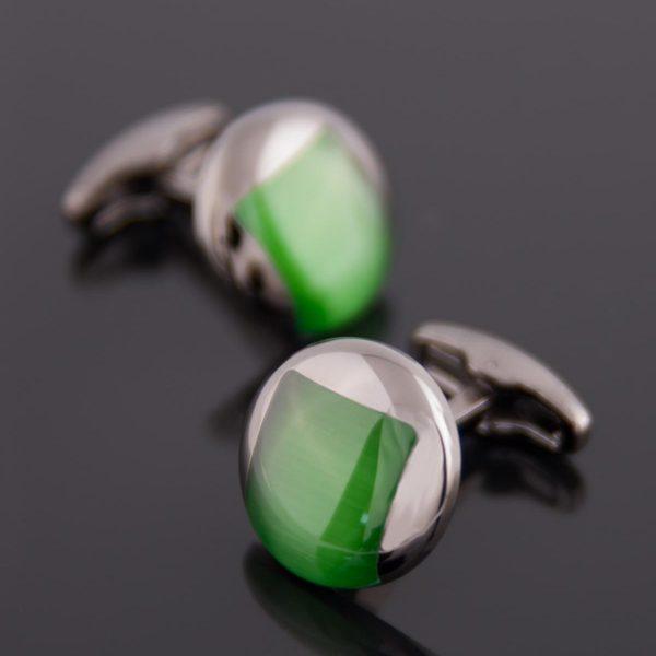 Butoni Eleganți cu piatră verde