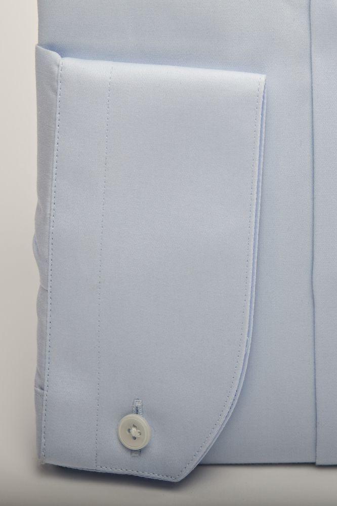 Cămașă Bleu cu Ac - Guler Piccadilly