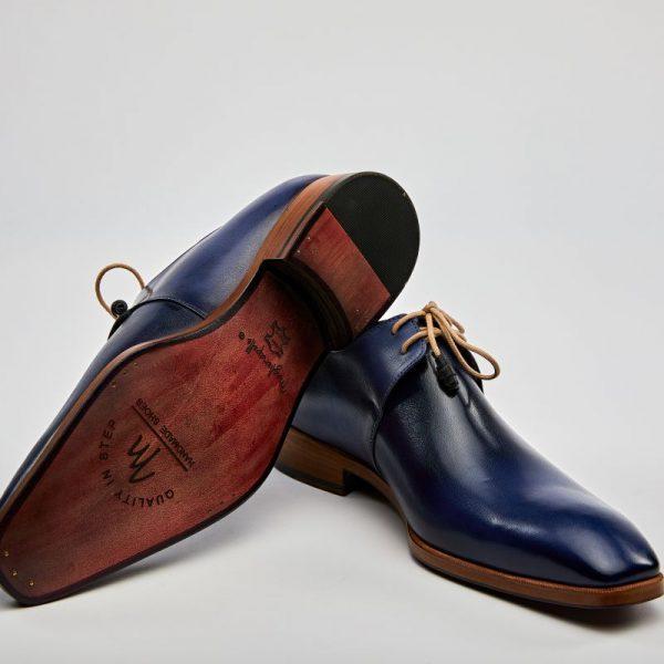 Pantofi derby indigo