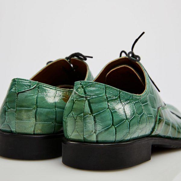 Pantofi oxford captoe verzi