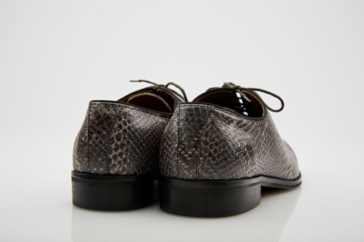 Pantofi oxford piele șarpe gri