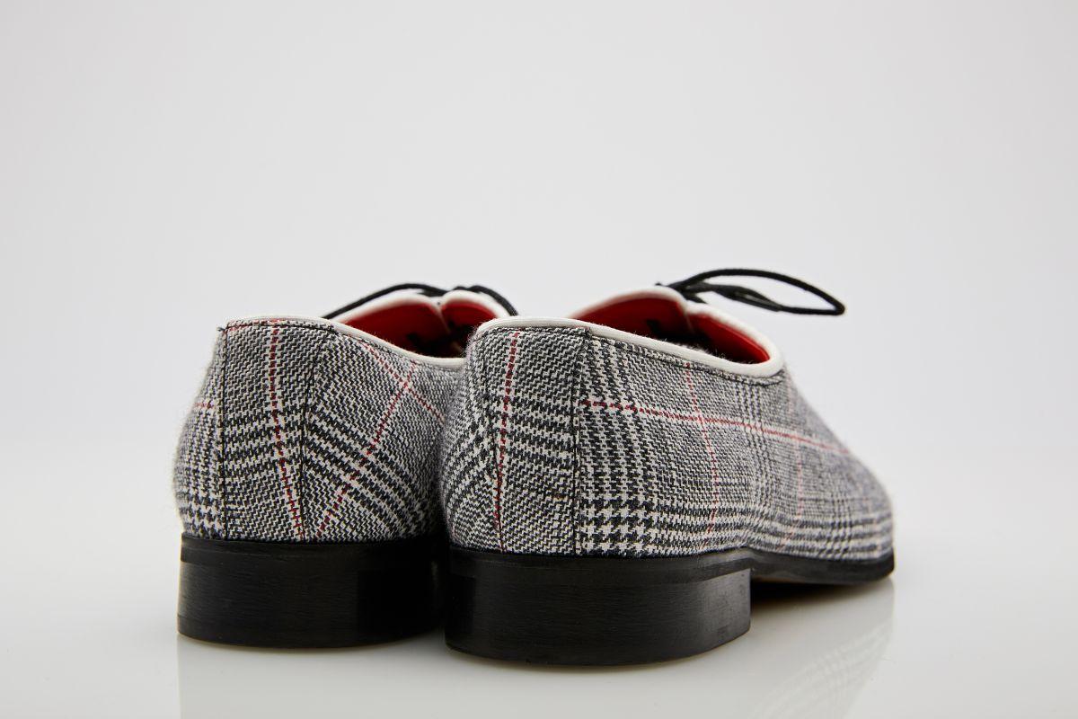 Pantofi oxford gri carouri