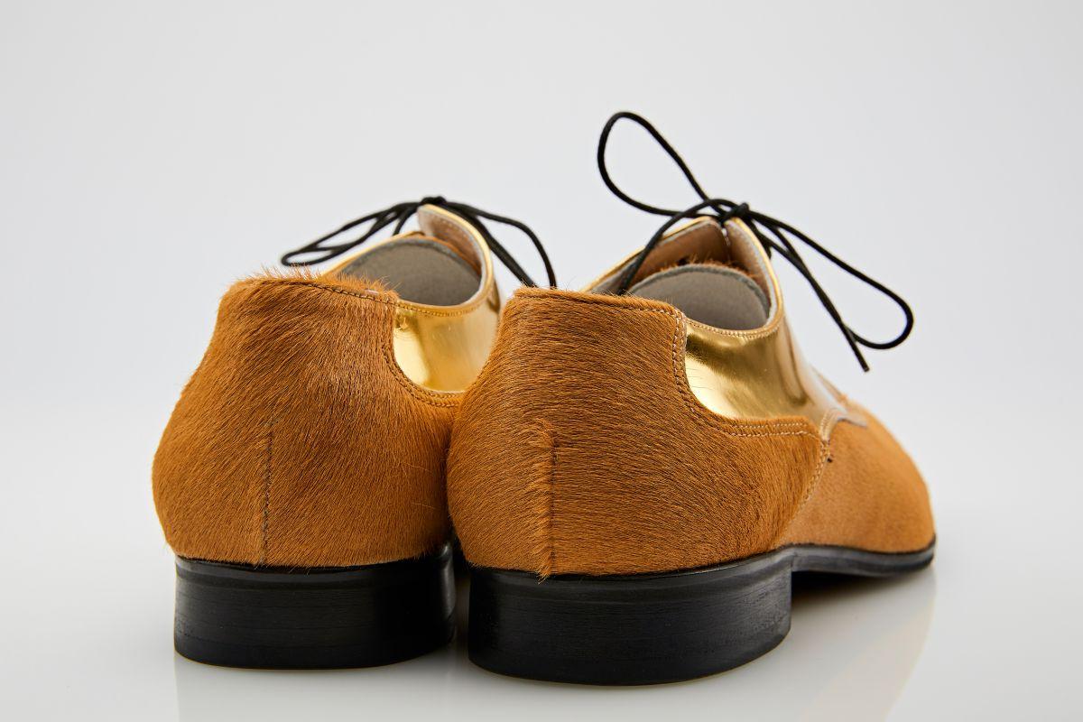 Pantofi derby piele ponei