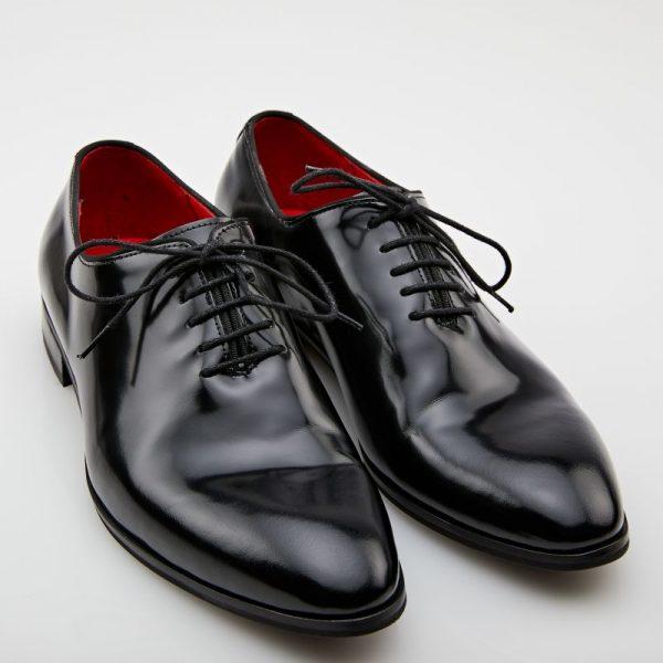 Pantofi oxford semilac negru