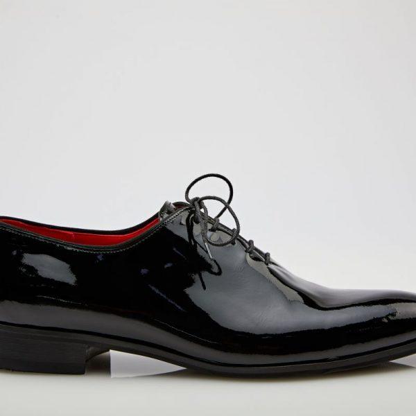 Pantofi oxford lac negru