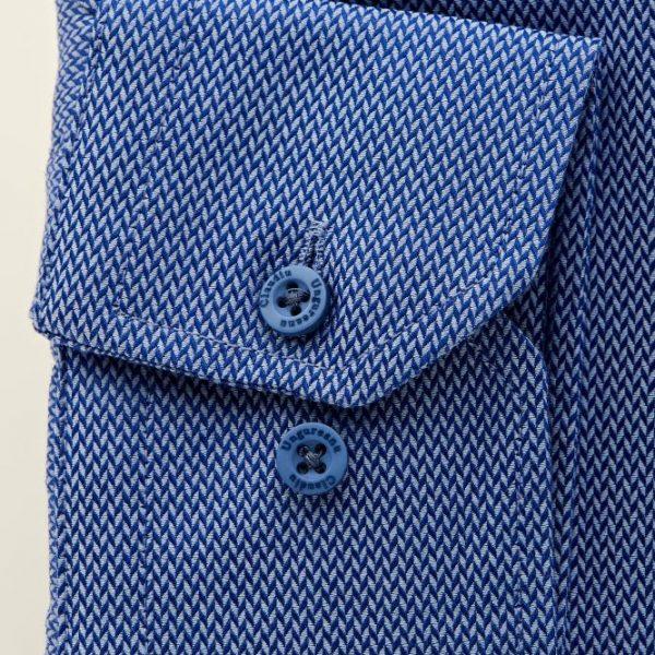 Cămașă Bleu cu Textură - Guler Roger