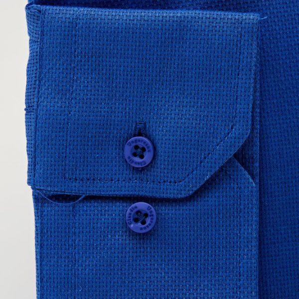 Cămașă Albastră cu Textură - Guler Roger
