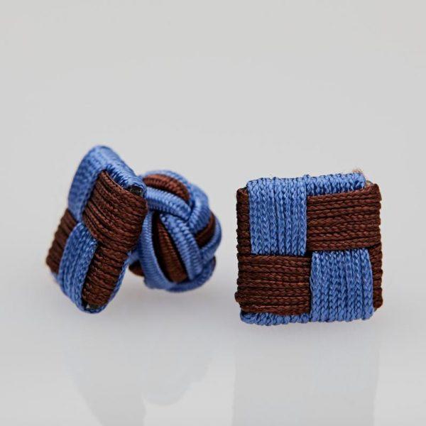 Butoni culoare bleu - maro