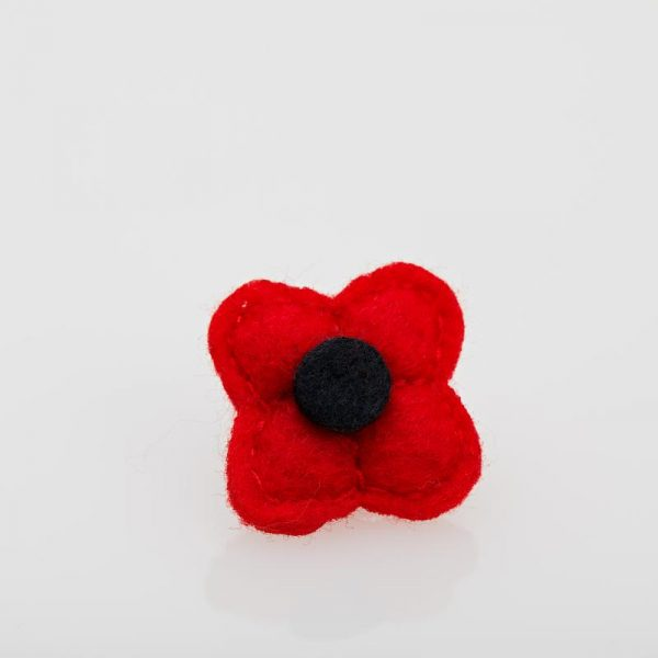 Accesoriu Casual pentru Rever Tip Floare de culoare Roșie