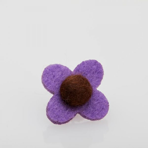 Accesoriu Casual pentru Rever Tip Floare de culoare Lila