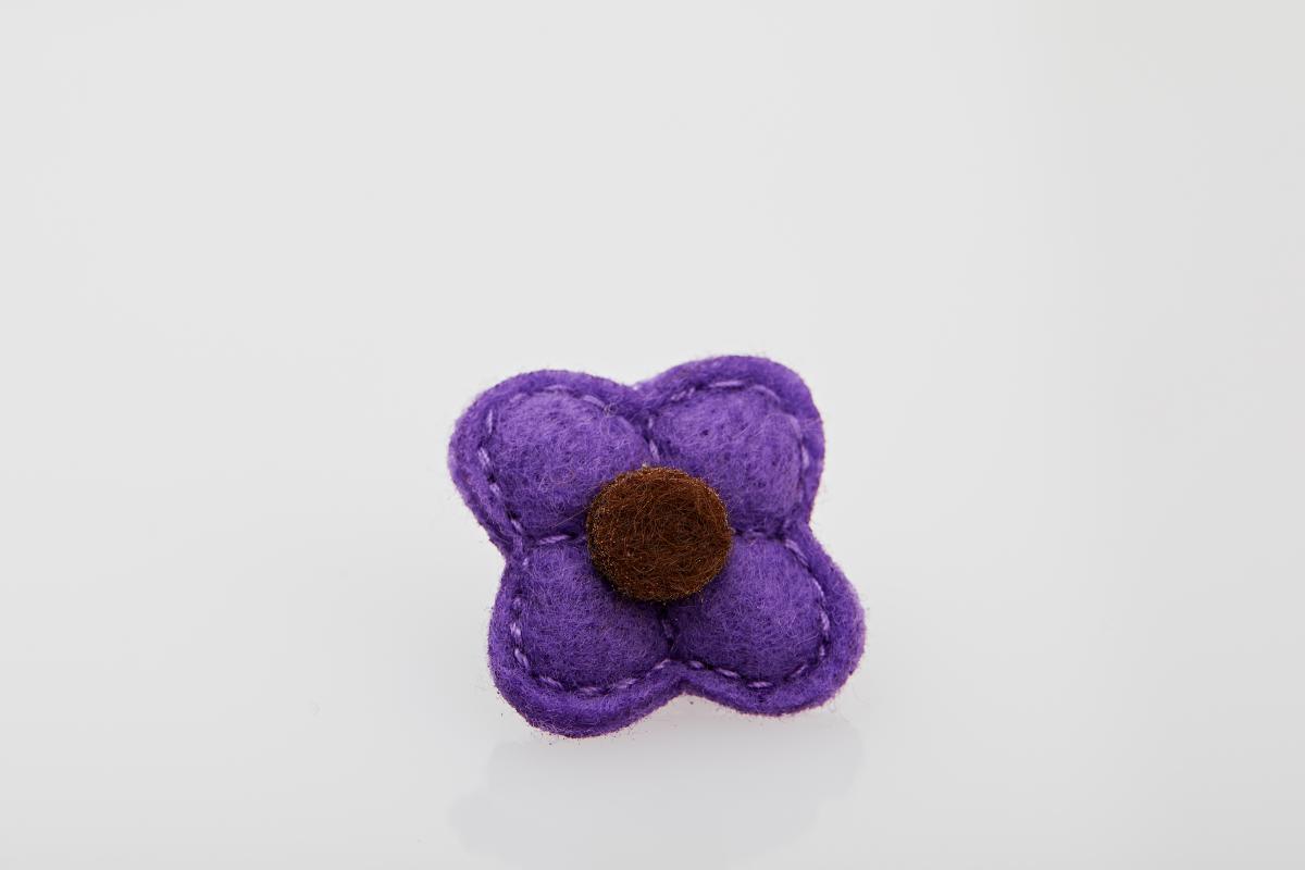 Accesoriu Casual pentru Rever Tip Floare de culoare Violet