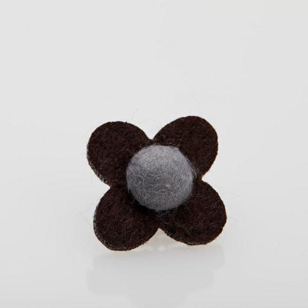 Accesoriu Casual pentru Rever Tip Floare de culoare Maro