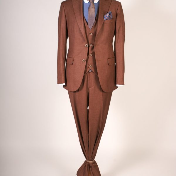 Dark Brown Suit Three Pieces