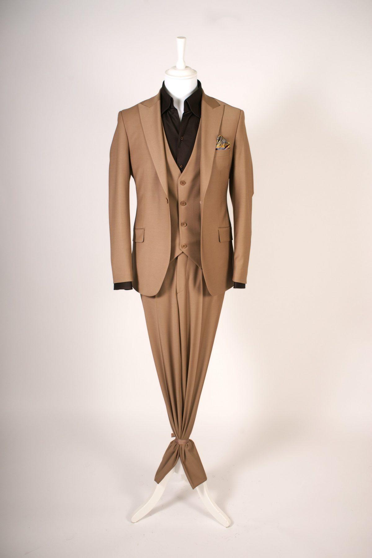 Classic British Inspiration Design -Dark Cognac Brown Suit Three Pieces