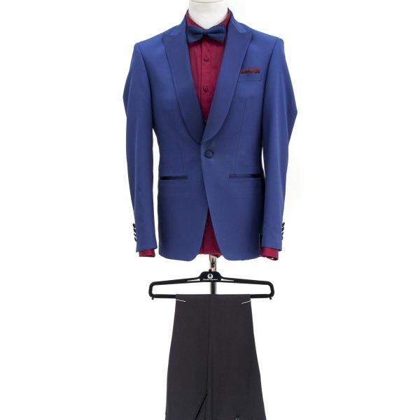 Bespoke/MTM Casual - Costum Bleu Închis cu Textură