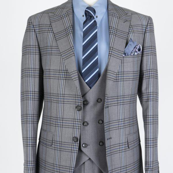 Costum Gray în carouri