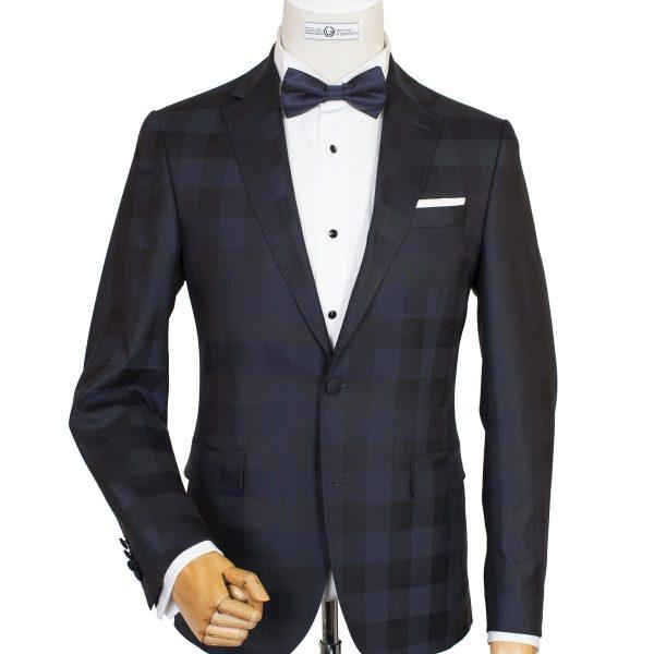 Bespoke/MTM Casual - Costum Bleumarin în Carouri