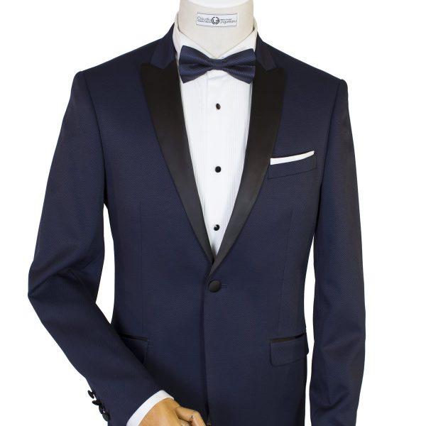 Bespoke Ceremony/MTM - Navy Blue Dinner Jacket