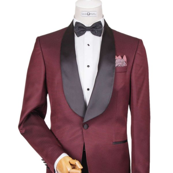 Bespoke Ceremony - Burgundy Dinner Jacket