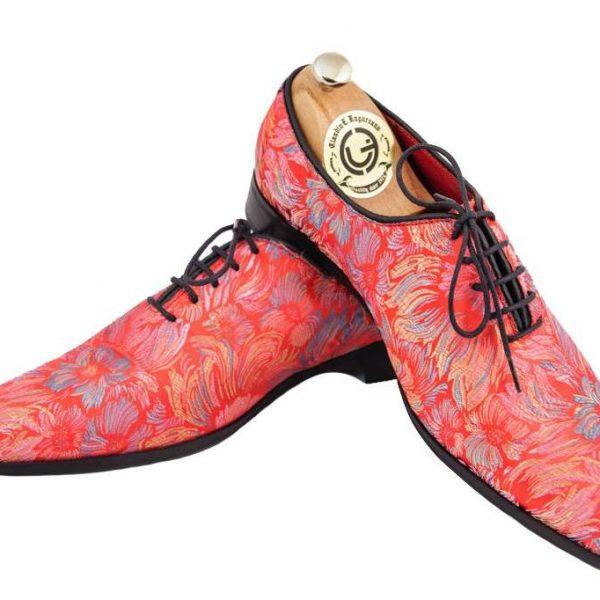 Pantofi oxford țesătură jacard
