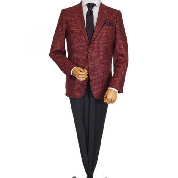 Bespoke/MTM Casual - Costum Grena cu Textură