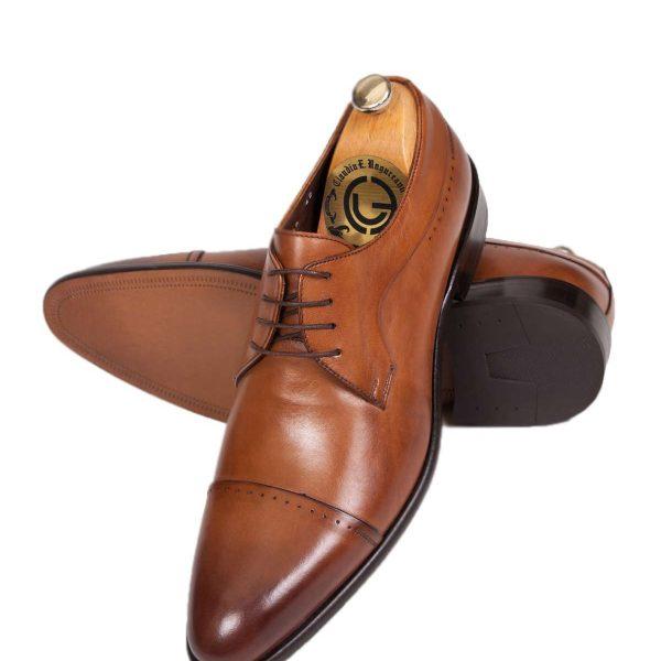 Pantofi Oxford Captoe maro