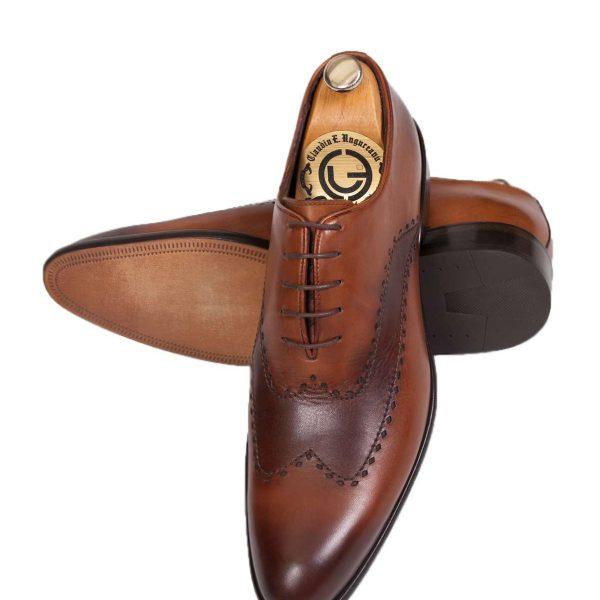 Pantofi Oxford Full Broque maro