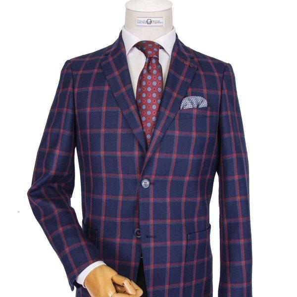 Bespoke/MTM Business - Costum Bleumarin în Carouri
