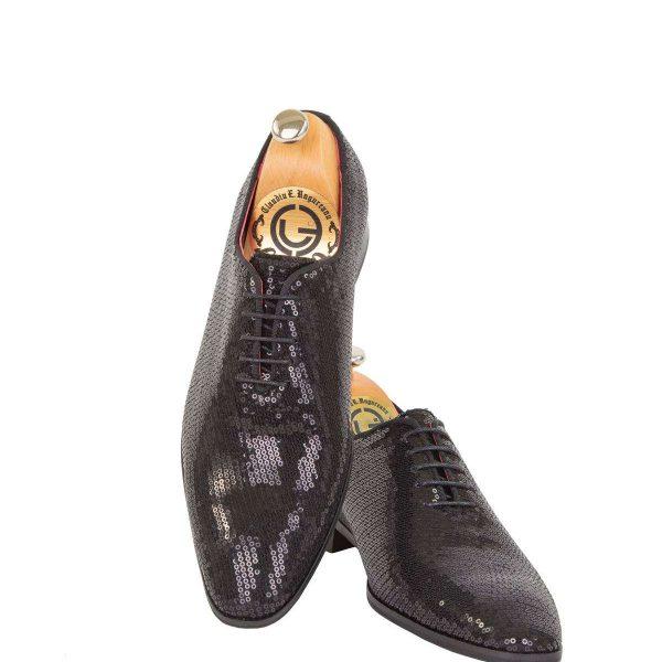 Pantofi oxford negru cu paiete 02